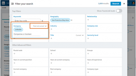 LinkeIn Sales Navigator Search Filters